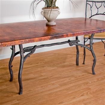 Pictured here is the South Fork Rectangle Dining Table Base Only hand crafted by skilled artisan blacksmiths from Mathews and company.