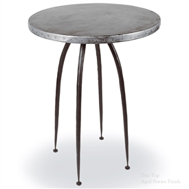 "Pictured here is the modern Pinnacle 36"" Counter Table hand crafted by skilled artisan blacksmiths."
