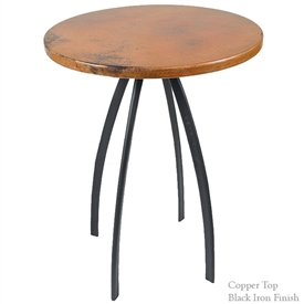 Pictured here is the Chanal 36inch Counter Table with 30inch diameter top hand crafted by skilled artisan blacksmiths.