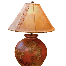 Pictured is our Contemporary style Flower Pot Table Lamp hand-made by Mathews & Co.