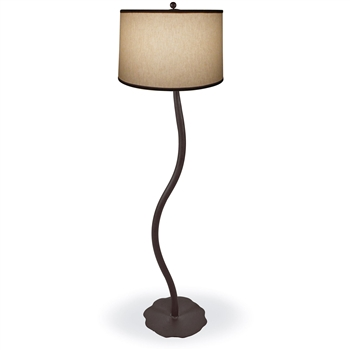 Pictured is our Contemporary style wrought iron Diamondback Floor Lamp hand-made by Mathews & Co.