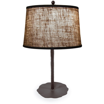 Pictured is our Contemporary style wrought iron Preston Table Lamp hand-made by Mathews & Co.