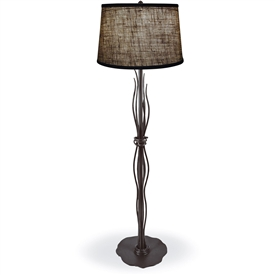 Pictured is our Contemporary style wrought iron River Reed Floor Lamp hand-made by Mathews & Co.