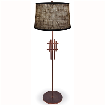 Pictured is our modern style Metropolis Floor Lamp hand-made by Mathews & Co.