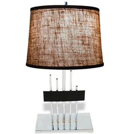 Pictured is our modern style Metropolis 11 Table Lamp  hand-made by Mathews & Co.