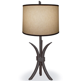 Pictured is our Contemporary style Salisbury Table Lamp hand-made by Mathews & Co.