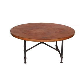 Pictured here is the Burlington Coffee Table Base Only hand crafted by skilled artisan blacksmiths from Mathews and company.