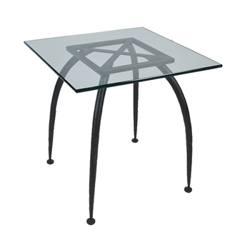Pictured here is the Pinnacle End Table Base Only hand crafted by skilled artisan blacksmiths from Mathews and company.