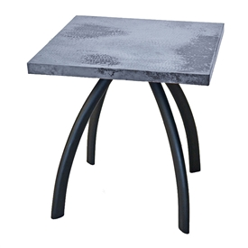 "Pictured here is the Chanal End Table with 24"" x 24"" Square Top hand crafted by skilled artisan blacksmiths."
