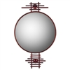 Pictured here is the Metropolis Round Mirror from Mathews and Company