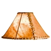 "Pictured is our Rustic style Rawhide 20"" Floor Lamp Shade hand-made by Mathews & Co."