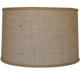 "Pictured is our Rustic style Burlap 16"" Drum Floor Lamp Shade hand-made by Mathews & Co."