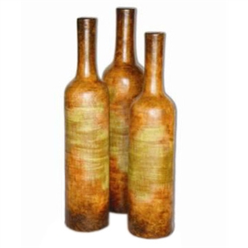 Pictured here is the Extra Large Stoneware Bottles Set of 3 from Mathews and Company
