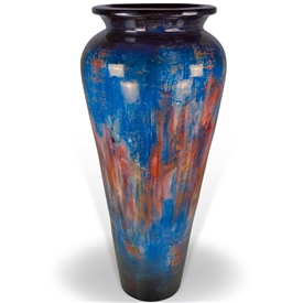 Pictured here is the Jefferson Large Stoneware Floor Vase from Mathews and Company