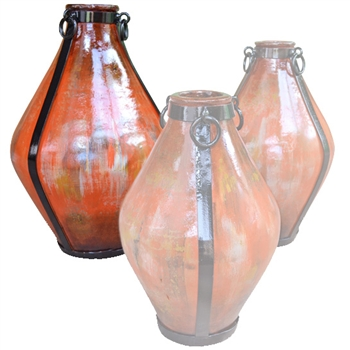 Pictured here is the handcrafted large Ceramic Salerno Jar in our Tangelo finish which measures 15 inches in diameter by 26 inches high.