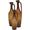 Pictured here is the Set of 3 Clarksdale Ceramic Urns  from Mathews and Company