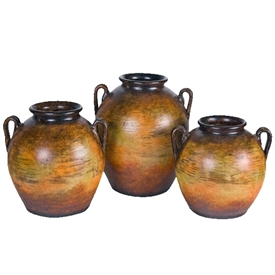 Pictured here is the Newport Ceramic Jars Set of 3 in our Grand Canyon finish