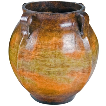 Pictured here is the handcrafted Winchester Small Ceramic Floor Pot in our Grand Canyon finish which measures 20 inches in diameter by 21 inches high.