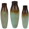 Pictured here is the Wynne Ceramic Vases Set of 3 from Mathews and Company