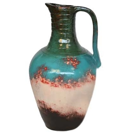 Pictured here is the Richland Large Ceramic Jar with Handle from Mathews and Company