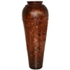 Pictured here is the handcrafted Large Nail Head Ceramic Vase in our Chesterfield finish which measures 16 inches in diameter by 42 inches high.