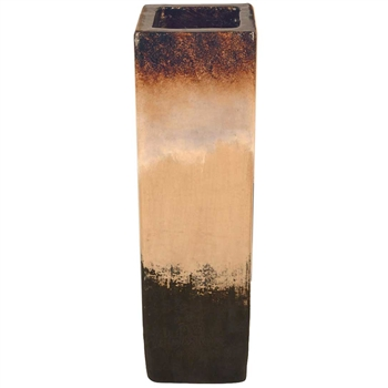 Pictured here is the handcrafted Small Square Ceramic Floor Vase in our Sykes finish which measures 9 inches long by 9 inches wide by 22 inches high.