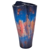 Pictured here is the handcrafted Twisted Ceramic Floor Vase in our Cobalt Blue finish which measures 16 inches in diameter by 31 inches high.