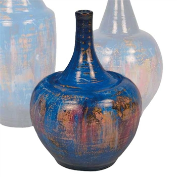 Pictured here is the handcrafted Small Bell Ceramic Urn in our Cobalt Blue finish which measures 9 inches in diameter by 16 inches high.