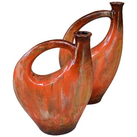 Pictured here is the Castille Ceramic Pitchers Set of 2 from Mathews and Company