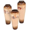 Pictured here is the handcrafted Sundance ceramic urns in our poppycock finish, sold as a set of 3 - small, medium and large.
