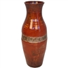 Pictured here is the handcrafted Austin Urn with Zinc Wrap which measures 8 inches in diameter by 21 inches high.