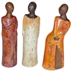 Pictured here is the handcrafted ceramic Little Ladies sculptures, sold as a set of 3 - small, medium and large.