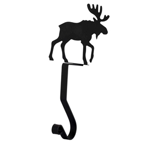 Wrought Iron Moose Stocking Holder