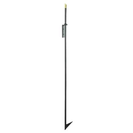 Pictured is the Minuteman manufactured 48-in Brass Top Fireplace Fire-Poker in Black finish