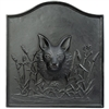 Pictured here is the Cast Iron Fox Fireback that measures 23-inch x 25-inch