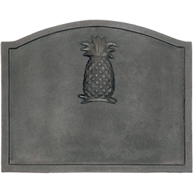 Pictured here is the Small Iron Pineapple Fireback that measures 19-1/2-inch x 15-1/2-inch