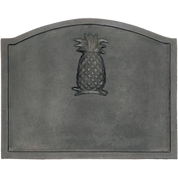 Pictured here is the Large Pineapple Fireback that measures 22-1/2-inch x 17-3/4-inch