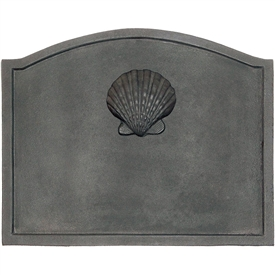 Pictured here is the Large Shell Fireback that measures 22-1/2-inch x 17-3/4-inch