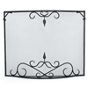 Pictured here is the Bostonian Curved Fireplace Screen in Black measuring 39 x 31