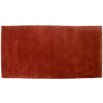 Pictured is the Minuteman Somerville Red Rectangular Hearth Rug that measures 44-inch x 22-inch and meets CPSC Standard FF1-70 for flammability of carpets.