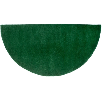 Pictured is the Minuteman Nottingham Green Half Round Hearth Rug that measures 44-inch x 22-inch and meets CPSC Standard FF1-70 for flammability of carpets.