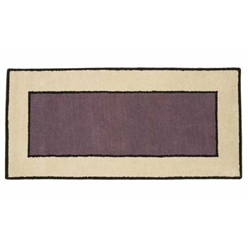 Pictured is the 26 inch x 56 inch Minuteman Contemporary II Dusk Hearth Rug manufactured in America by Minuteman.