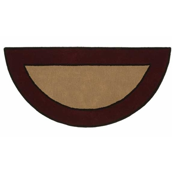 Pictured is the 26 inch x 56 inch Fire Resistant Contemporary II Berry Hearth Rugs manufactured in America by Minuteman.