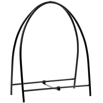 Pictured here is the Arched Metal Firewood Holder manufactured by Minuteman.