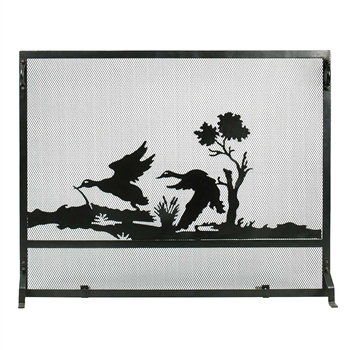 Pictured here is the Mallard Scene Fireplace Screen.