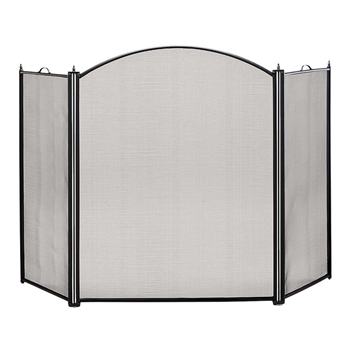 Pictured here is the Black Tri-Folding Fireplace Screen  .