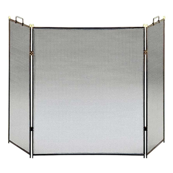 Pictured here is the Flat Top Tri-Fold Hearth Screen  .