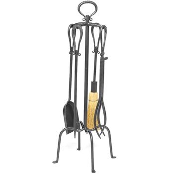 Pictured is the 5 Piece Iron Loop Fireplace Tool Set  manufactured by Minuteman