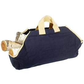 Pictured here is the Navy and Tan Canvas Log Carrier manufactured by Minuteman.