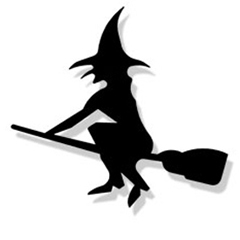 Wrought Iron Witch Magnet